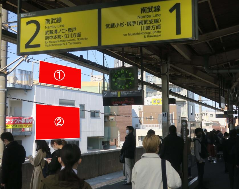 武蔵新城駅ホーム前 メゾン・ド・ラコルテ